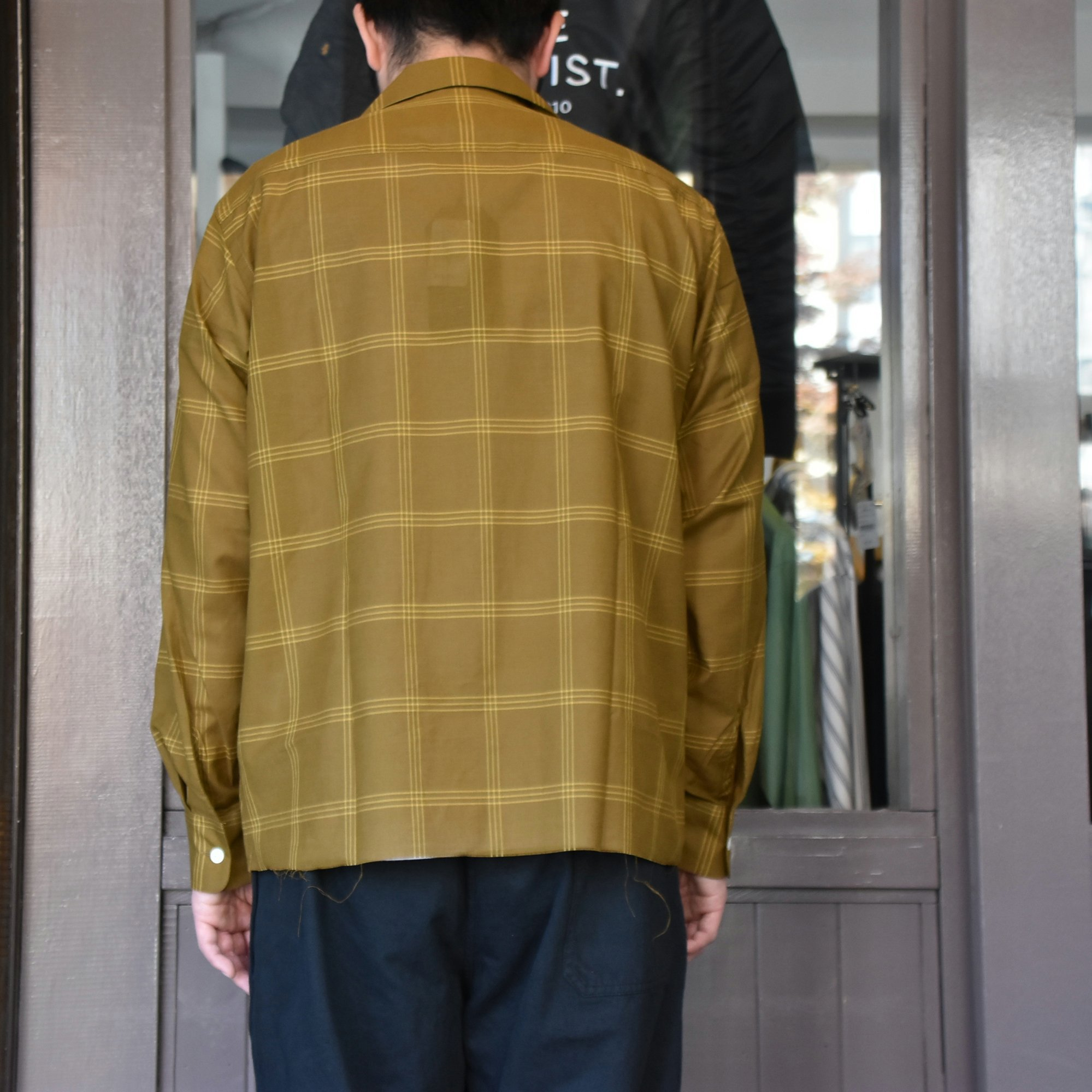 [2021]NEEDLES(ニードルス) C.O.B. ONE-UP SHIRT C/S PLAID -BROWN-#IN170(5)