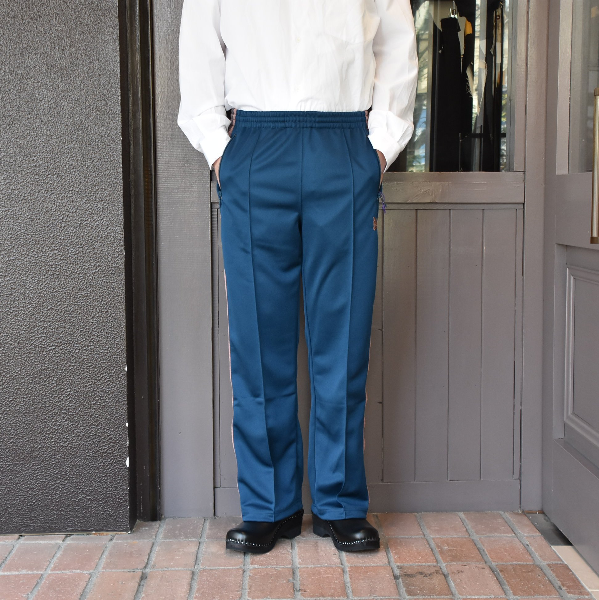 [2021]NEEDLES(ニードルス) TRACK PANT POLY SMOOTH -TEAL GREEN- #IN181(5)