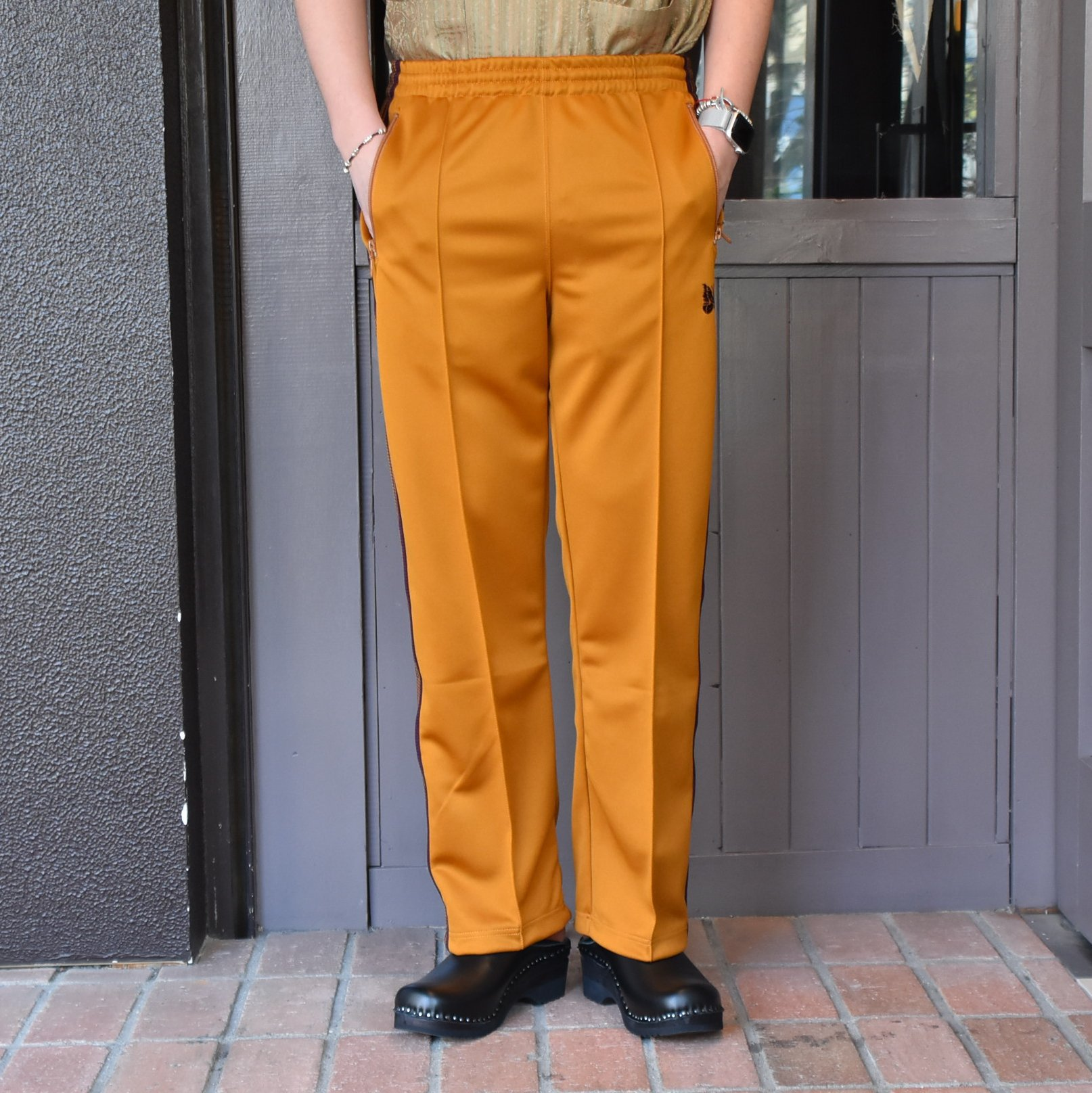 [2021]NEEDLES(ニードルス) TRACK PANT POLY SMOOTH -MUSTARD- #IN181(5)