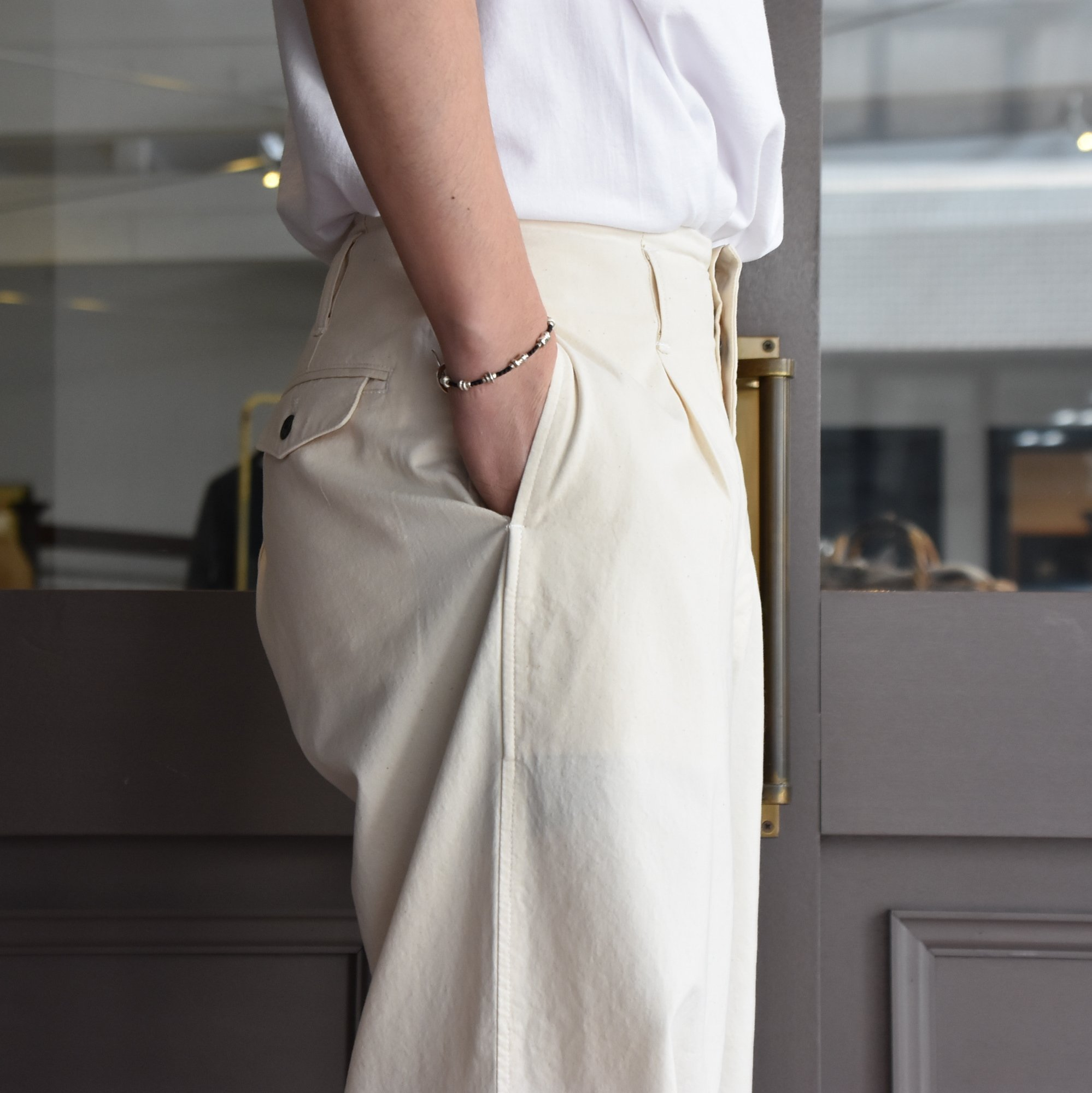 [2021]amachi.(アマチ) DetachablePocket Work Pants-Off White- #AY8-22(5)