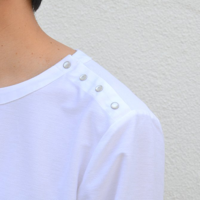 【30% OFF SALE】【17 SS】Curly(カーリー) HIGH GAUGE TWILL JERSEY -WHITE- #171-31032SD(6)