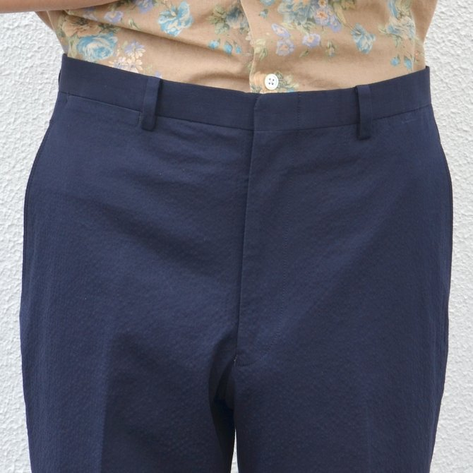 KENNETH FIELD (ケネスフィールド)  TRIM TROUSER ITALIAN SUCKER -NAVY- #17SS-40(6)