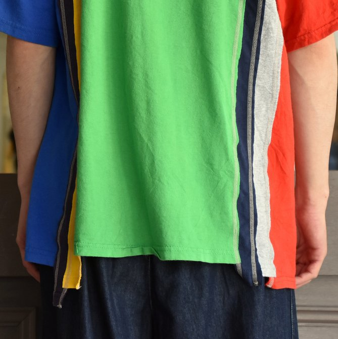 REBUILD BY NEEDLES  (リビルドバイニードルス) 7 cut wide tee-college- green EJ291(6)