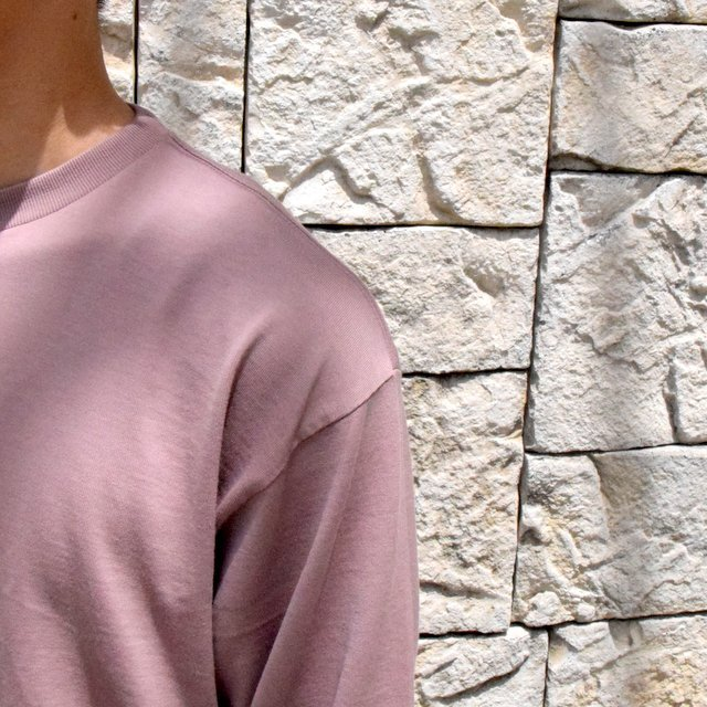 【2019 AW】 AURALEE(オーラリー)/ LUSTER PLAITING L/S TEE -LIGHT BROWN- #A9AP01GT(6)