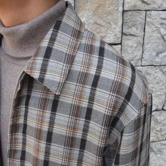 【30% off sale】【19 AW】 AURALEE(オーラリー)/DOUBLE FACE CHECK ZIP BLOUSON -BROWN CHECK-#A9AB02BN-BR(6)