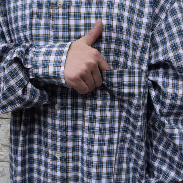 Marvine Pontiak Shirt Makers(マーヴィンポンティアックシャツメーカーズ)/TWO TONE L/S Shirt -GREEN CHECK- #MPSM-1913S(6)
