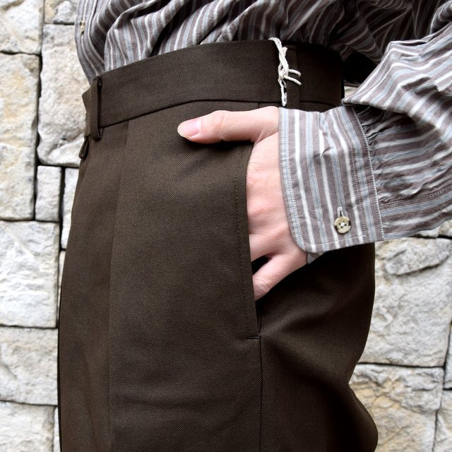 【2020 SS】NEAT(ニート)/ HOPSACK ''WIDE'' -KHAKI- #20-01HSW-KH(6)