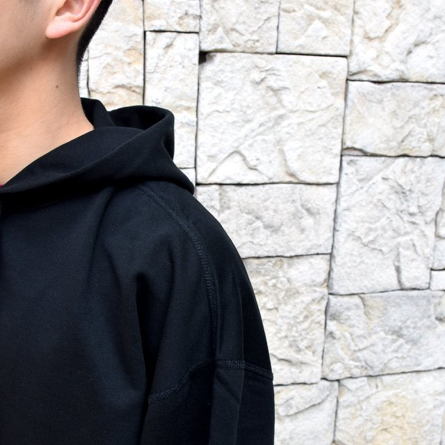 【2020 SS】AURALEE(オーラリー)/ SUPER SOFT SWEAT BIG P/O PARKA -BLACK- #A20SP01GU(6)
