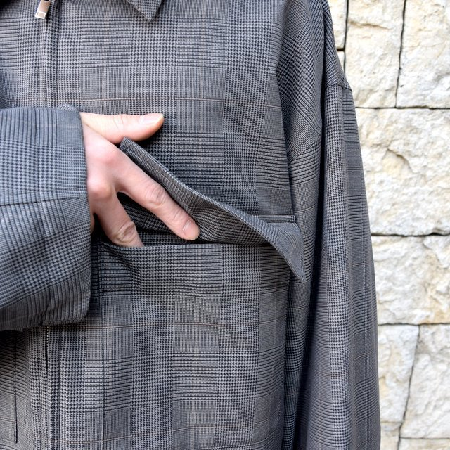 【2020 SS】stein(シュタイン)/ OVER SLEEVE ZIP JACKET -GLEN CHECK- #ST135-2(6)