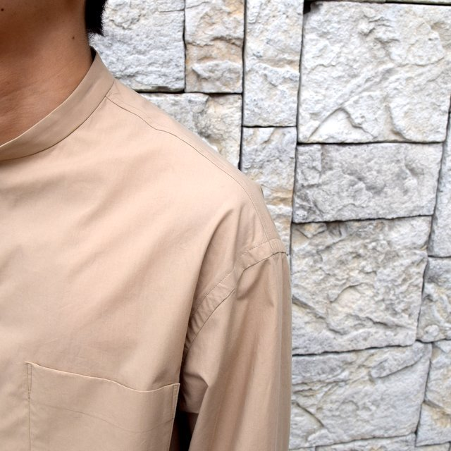 【30% off sale】【2020】blurhms(ブラームス) / Stand-up Collar Shirt L/S:LIGHT BEIGE  BHS-20SS019(6)