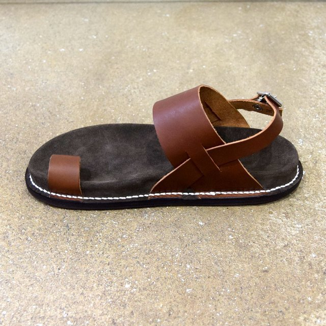 【2020 SS】KAPTAIN SUNSHINE × PHIGVEL / GURKHA FOOTBED SANDALS -BROWN- #KS20SGD06(6)