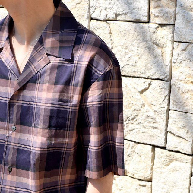 【2020】blurhms(ブラームス) / OPEN COLLAR SHIRT S/S -DARK MADRAS- #BHS-20SS018CP(6)