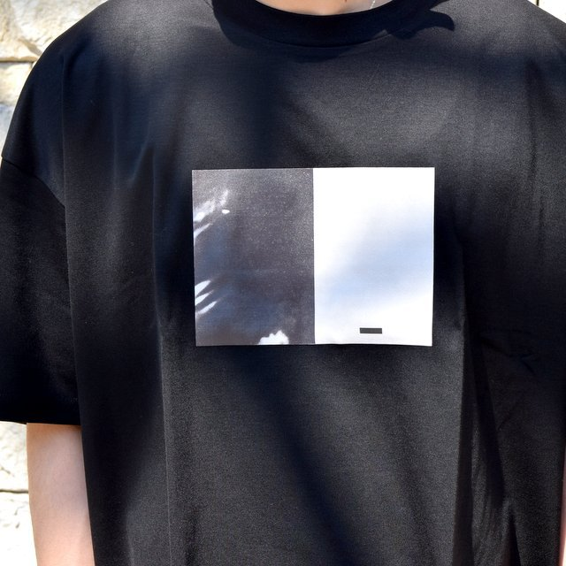 【2020 SS】stein(シュタイン)/ PRINT TEE ''TO COMPLETE'' -BLACK- #ST154(6)