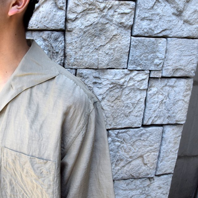 【30% off sale】【2020】KAPTAIN SUNSHINE (キャプテンサンシャイン)/ RIVIERA S/S SHIRT -KHAKI- #KS20SSH04(6)