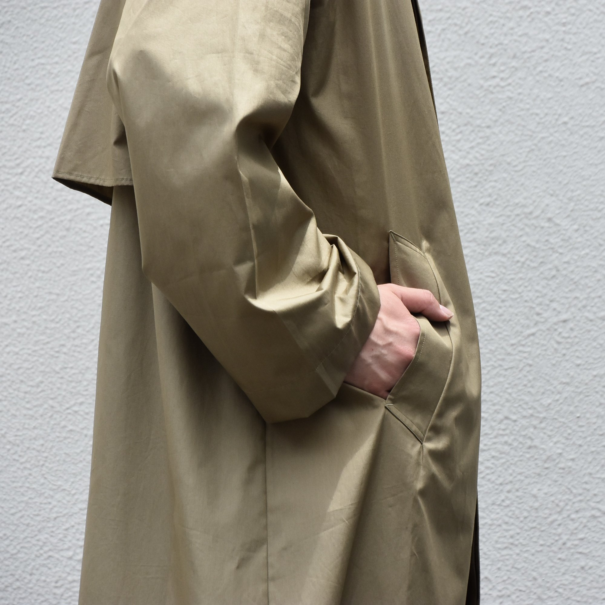 【2020】 Cristaseya(クリスタセヤ)/ OVERSIZED LIGHT COTTON SUMMER TRENCH -Light khaki- #01DA-C-LK(6)