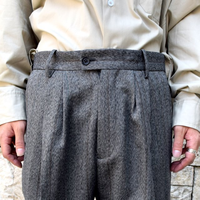 【2020】stein(シュタイン)/ WIDE TAPERED TROUSERS -HERRINGBONE- #ST178-2(6)