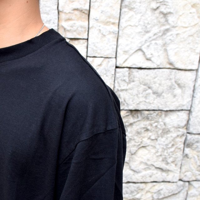 【2020】blurhms ROOTSTOCK(ブラームス) / SILK COTTON JERSEY L/S LOOSE FIT -BLACK- #ROOTS-F206(6)