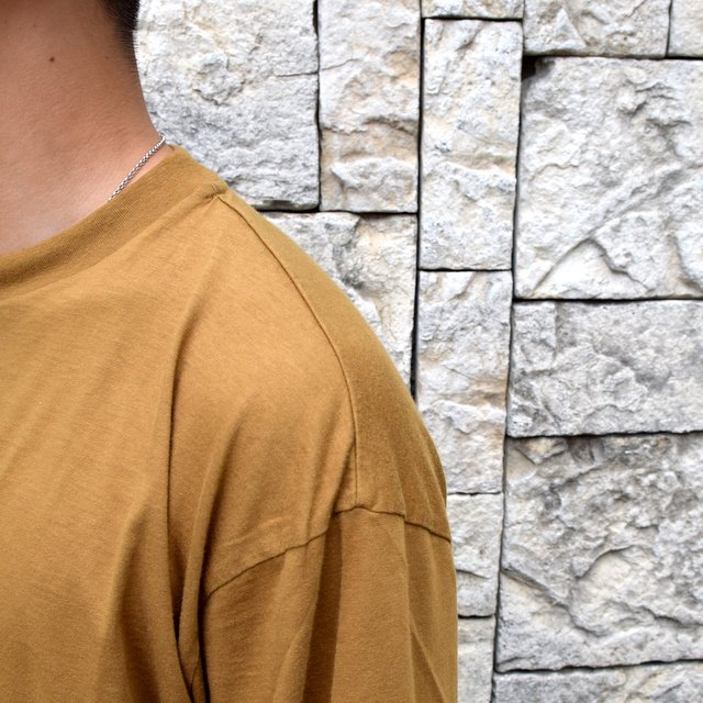 【2020】blurhms ROOTSTOCK(ブラームス) / SILK COTTON JERSEY L/S LOOSE FIT -CAMEL- #ROOTS-F206(6)