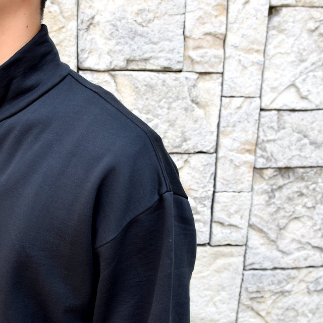 AURALEE(オーラリー)/ ELASTIC HIGH GAUGE SWEAT HALF ZIP P/O -BLACK- #A20AP01NU(6)