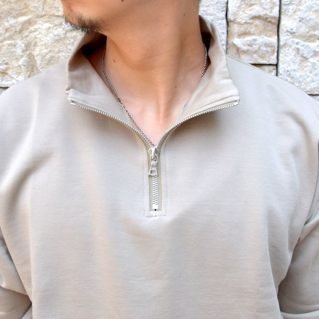 【2020】 AURALEE(オーラリー)/ ELASTIC HIGH GAUGE SWEAT HALF ZIP P/O -KHAKI GRAY- #A20AP01NU(6)