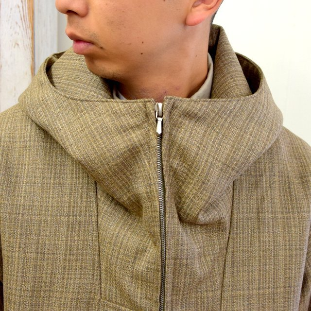 AURALEE(オーラリー)/ BLUEFACED WOOL DOUBLE CLOTH ZIP HOODIE -MIX BEIGE- #A20AB02BN(6)