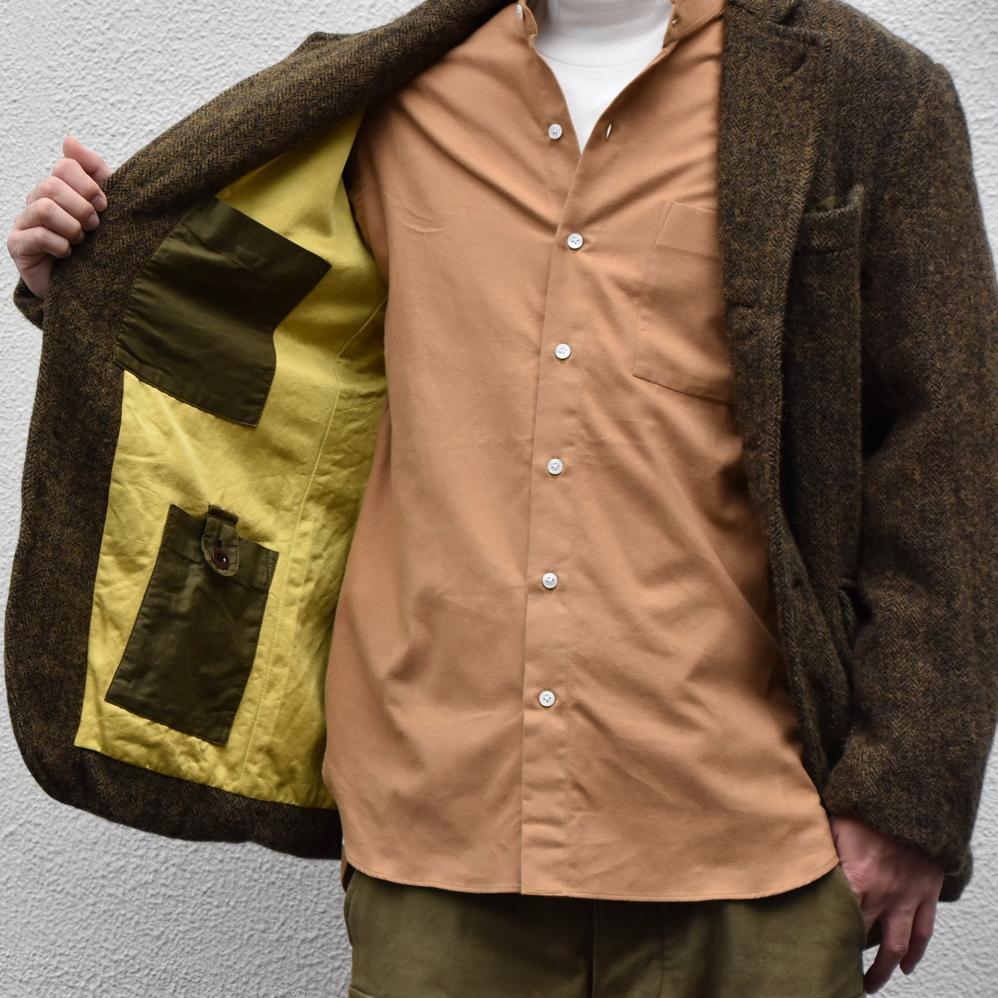 【2020】Chez Vidalenc (シェヴィダレンク)/ HARRIS TWEED JACKET-GREEN FOX- #JK01(6)