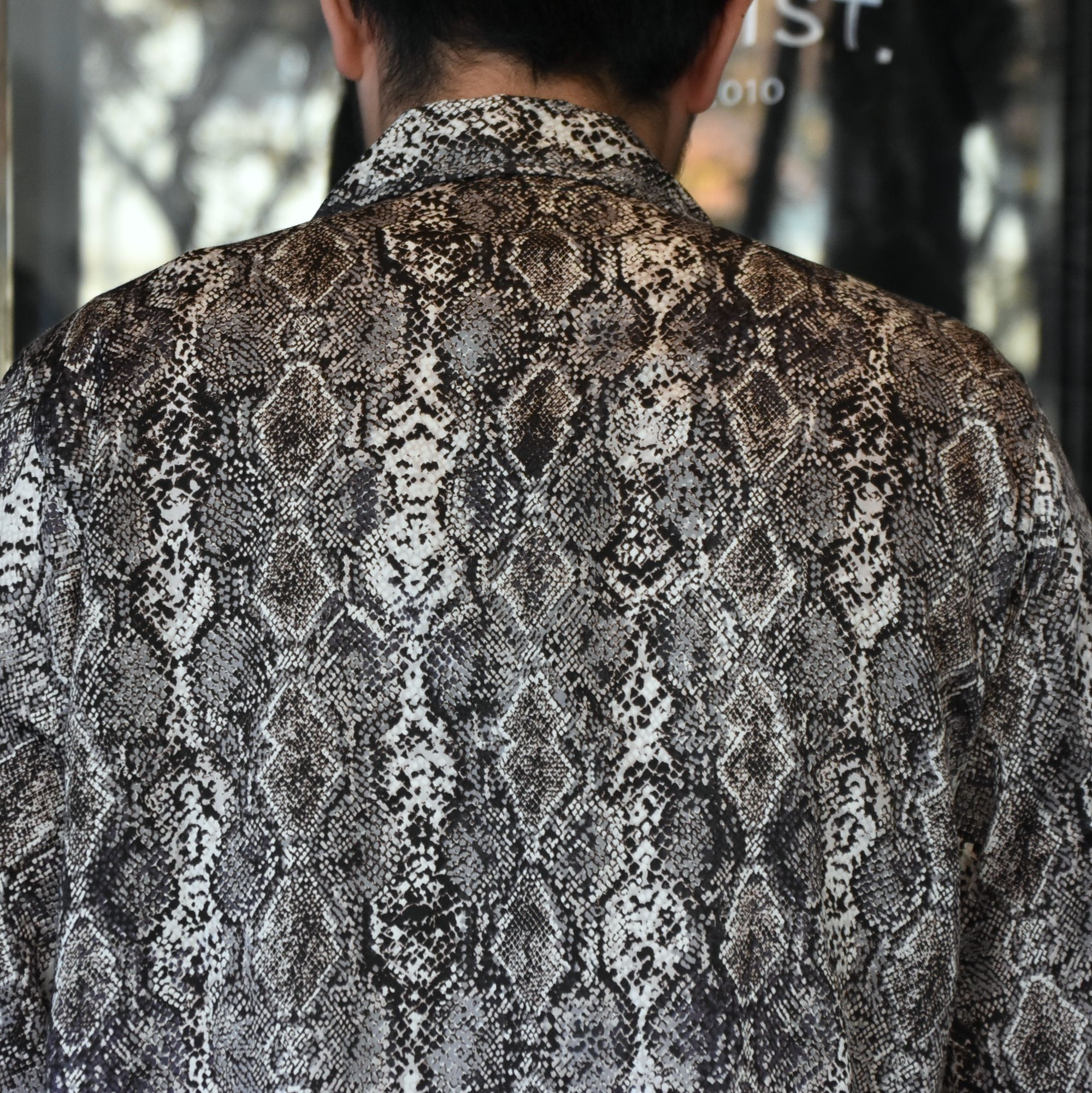 [2021]NEEDLES(ニードルス) CABANA SHIRT PYTHON PT -BLACK- #IN169(6)