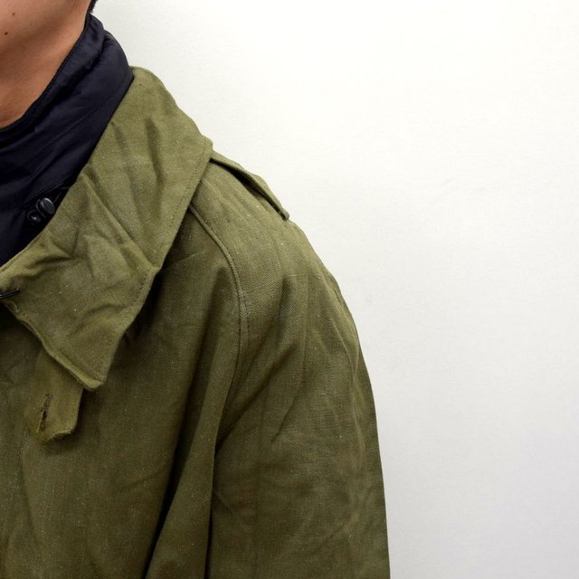 DEAD STOCK(デッドストック)/ FRENCH ARMY MOTORCYCLE COAT -OLIVE- #MILITARY300(6)