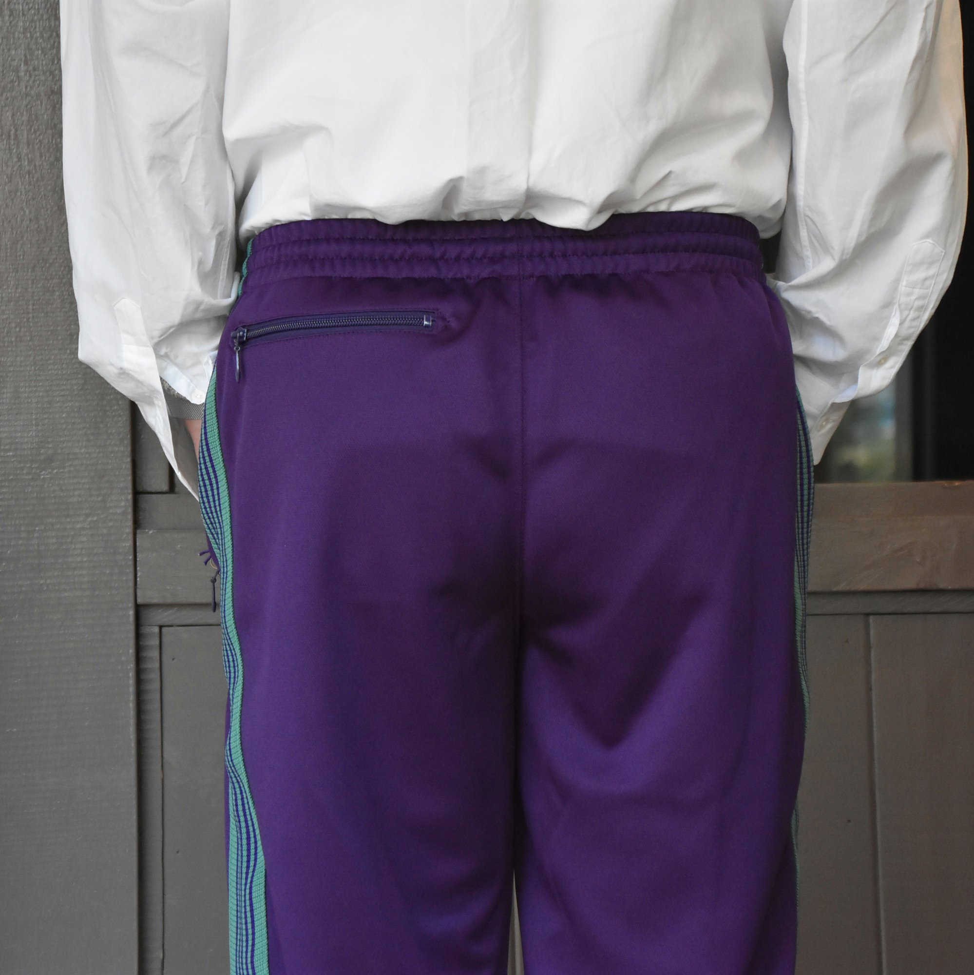 [2021]NEEDLES(ニードルス) TRACK PANT POLY SMOOTH -EGG PLANT- #IN181(6)