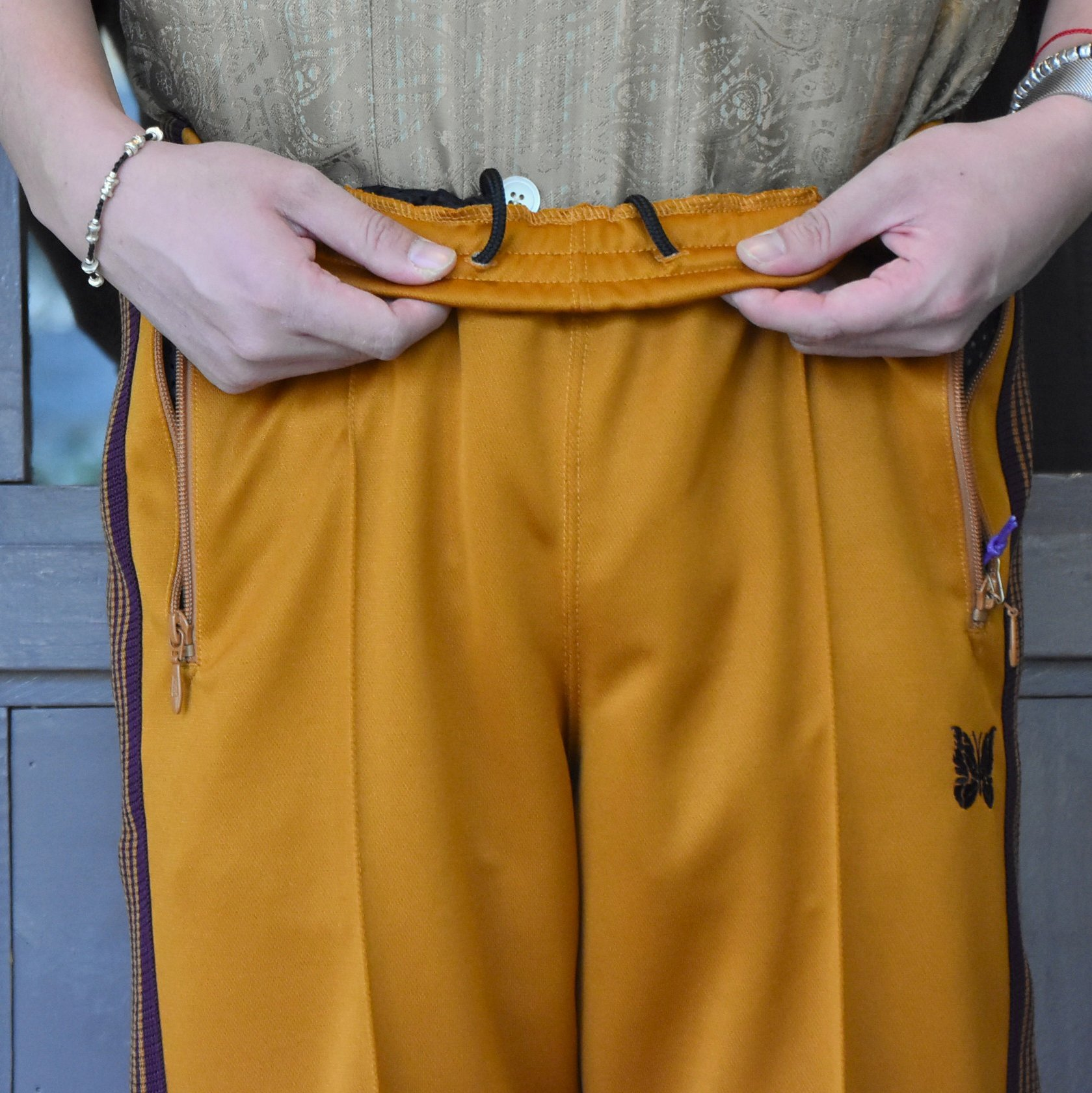 [2021]NEEDLES(ニードルス) TRACK PANT POLY SMOOTH -MUSTARD- #IN181(6)