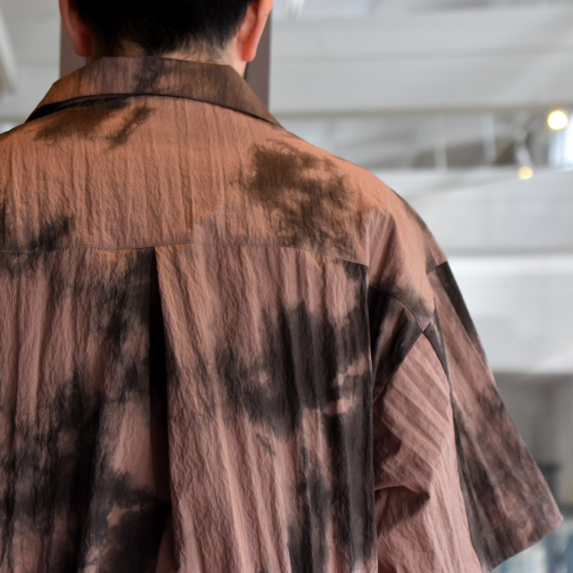 [2021]amachi.(アマチ) Packable Meeting Shirt -Brown Uneven Dye- #AY8-14(6)