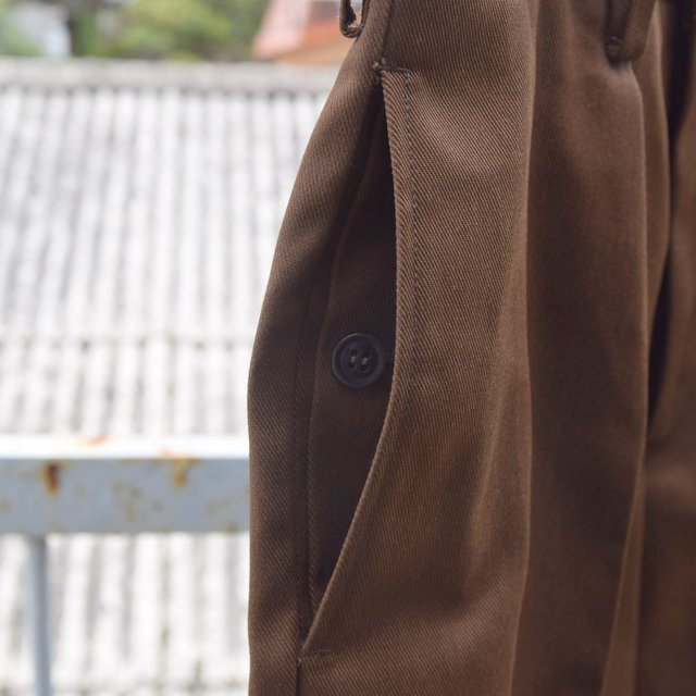 BROWN by 2-tacs (ブラウンバイツータックス)/ Straight slacks -BROWN- B25-P005(6)
