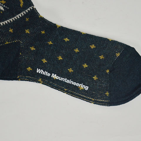 【30% off sale】White Mountaineering(ホワイトマウンテニアリング) Reindeer Pattern Middle Socks(7)