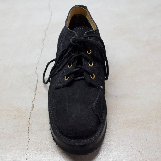 GRIZZLY BOOTS(グリズリー ブーツ) Lineman Oxford -BLACK ROUGH OUT-【別注】(7)
