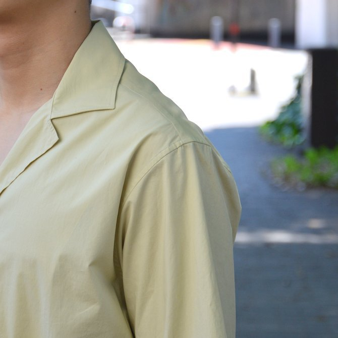 【40% OFF SALE】STUDIO NICHOLSON(スタジオニコルソン)/ OPEN COLLAR SHORT SLV SHIRT -KHAKI- #SN-280(7)