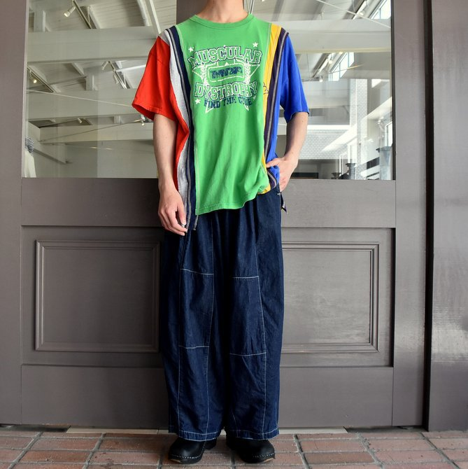 REBUILD BY NEEDLES  (リビルドバイニードルス) 7 cut wide tee-college- green EJ291(7)