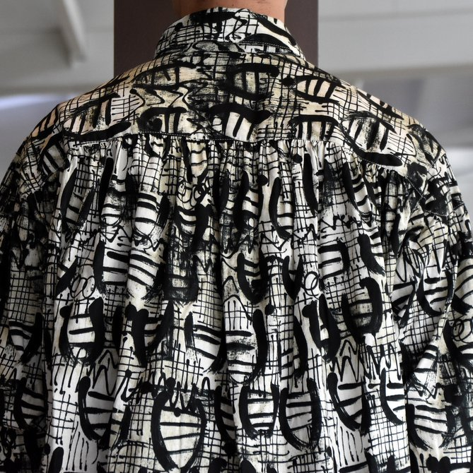 【2019 AW】AiE(エーアイイー) PAINTER SHIRT-ABSTRACT PRINT- FK469(7)