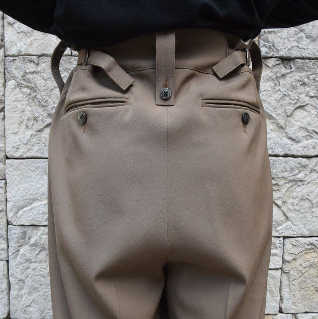 【2019 AW】NEAT(ニート)/ WOOL HIGHT DENSITY GABARDINE BELTLESS -CAMEL-#19-02WGB(7)