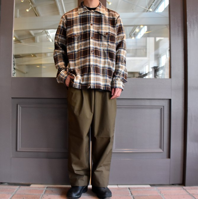 South2 West8(サウスツーウエストエイト) SMOKEY SHIRT-TWILL/PLAID #FK841(7)