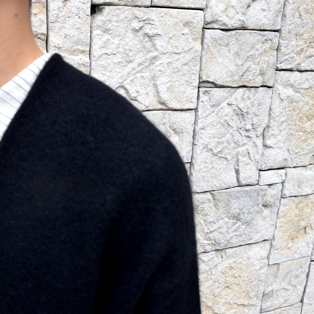 【2019 AW】 too good(トゥーグッド) / THE POET CARDIGAN CASHMERE WOOL KNIT-FLINT- #61101210(7)