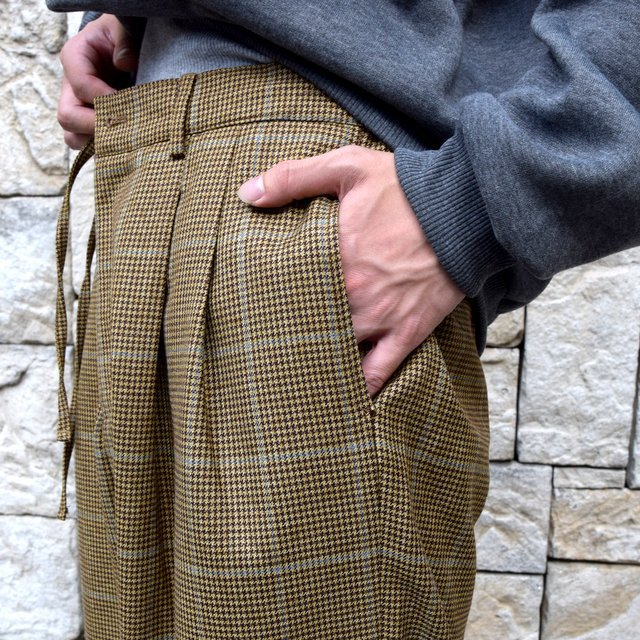 【30% OFF】is-ness(イズネス)/ COJ NU WIDE EZ PANTS -BROWN BLUE-  #30AWPT05-BR(7)