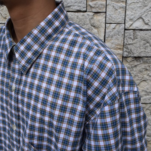 Marvine Pontiak Shirt Makers(マーヴィンポンティアックシャツメーカーズ)/TWO TONE L/S Shirt -GREEN CHECK- #MPSM-1913S(7)