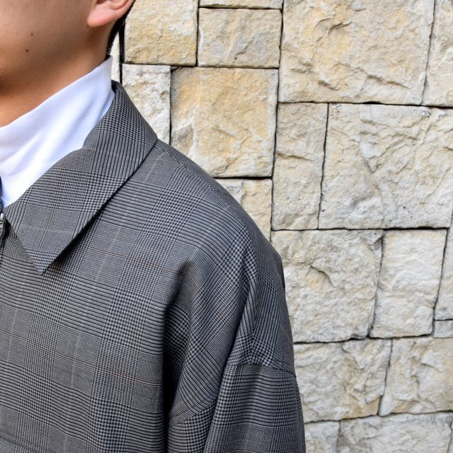 【2020 SS】stein(シュタイン)/ OVER SLEEVE ZIP JACKET -GLEN CHECK- #ST135-2(7)