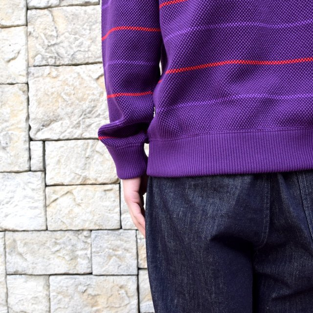 【2020 SS】crepuscule(クレプスキュール)/BORDER LONG SLEEVE TEE -PURPLE- #2001-001-PU(7)
