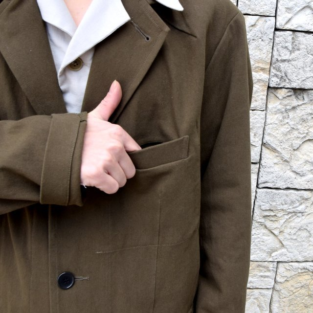 【2020 SS】HOMELESS TAILOR(ホームレステイラー)/ STEAL PK JACKET -KHAKI- #HTKS-002(7)