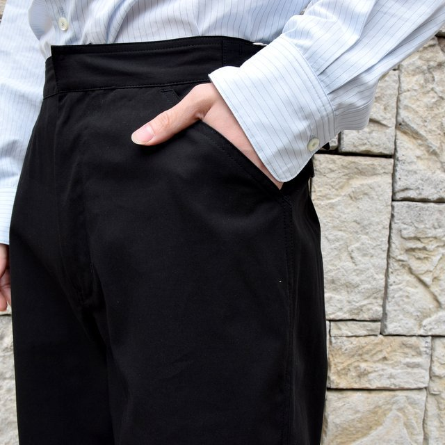 【2020】AURALEE(オーラリー)/ FINX HARD TWIST GABARDINE PANTS -BLACK- #A20SP02FB(7)