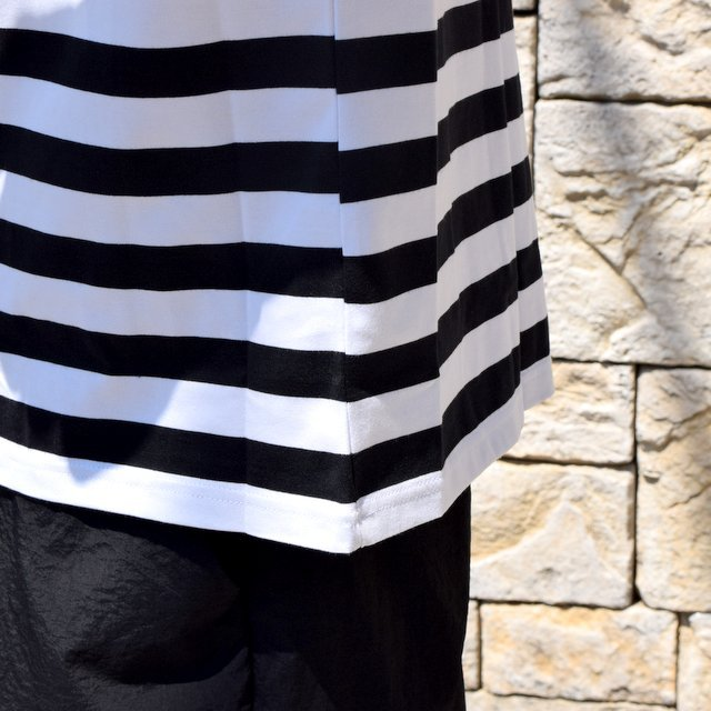 【2020 SS】Graphpaper (グラフペーパー)/ BORDER POCKET TEE S/S -WHITE×BLACK- #GM201-70149B(7)