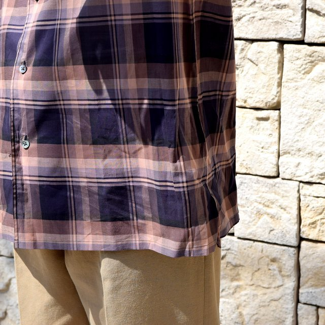 【2020】blurhms(ブラームス) / OPEN COLLAR SHIRT S/S -DARK MADRAS- #BHS-20SS018CP(7)