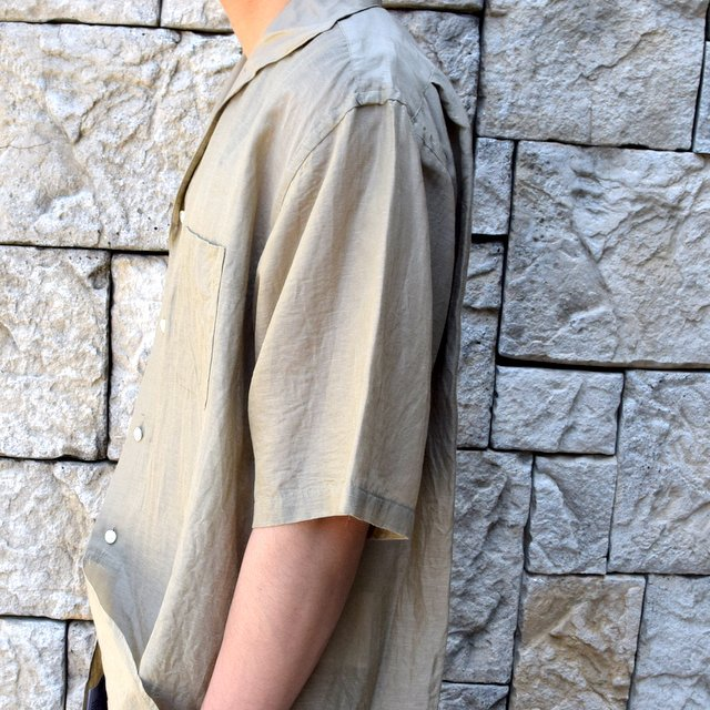 【30% off sale】【2020】KAPTAIN SUNSHINE (キャプテンサンシャイン)/ RIVIERA S/S SHIRT -KHAKI- #KS20SSH04(7)