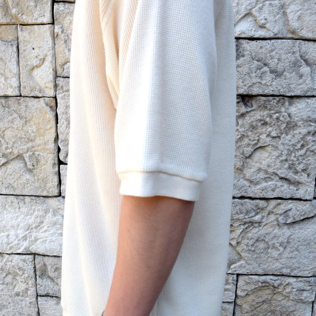【2020 SS 】 MARKAWARE(マーカウェア)/ WAFFLE ONE SIDE RAGLAN S/S -RAW WHITE- #A20A-12CS01B(7)